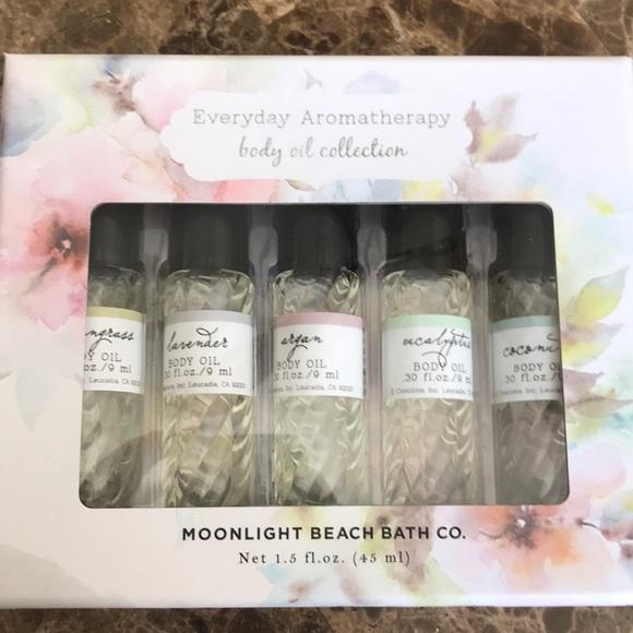Moonlight beach bath company body oil NWT